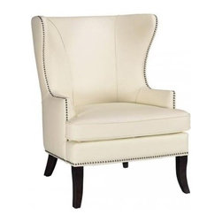 Grant Wing Back Chair - This nailhead trim wingback is sophisticated and elegant, but it won't break the bank. For this price you can get two.