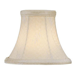 "Lite Source - Leaf Jacquard Candelabra Shade 3"" Top x 6"" - A beautiful cream bell shaped candelabra shade."