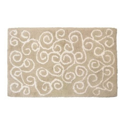 Park B. Smith Ultra Spa Symphony Bath Rug - With its sumptuous cotton construction and scrolled design, the Park B. Smith Ultra Spa Symphony Bath Rug is luxuriously soft and stylish, too. This bath rug features a neutral background with white scroll pattern, is made of ultra soft machine-washable cotton, and has a non-skid back to keep it safely in place.