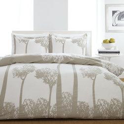 City Scene Tree Top Comforter or Duvet Cover Set -