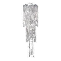 """Masiero - Masiero VE 825/A8 G WAll Sconce - The VE 825/A8 G wall sconce by Masiero has been designed by Studio Stile Masiero. Masiero hand-made lamps stylish  modern  design. Masiero a unique combination of conventional material (Murano glass  swarovski crystal and asfour  crystal, silk,ceramics) and modern minimalist design. The result is a product that is a precious decorative object and transmits a sensation of elegance and exclusivity; it makes one understand the great experience of Masiero craftsmen in the working of materials and the innovation of a design that gives a uniqueness to each item.   Product description:  The VE 825/A8 G wall sconce by Masiero has been designed by Studio Stile Masiero. Masiero hand-made lamps stylish  modern  design. Masiero a unique combination of conventional material (Murano glass  swarovski crystal and asfour  crystal, silk,ceramics) and modern minimalist design. The result is a product that is a precious decorative object and transmits a sensation of elegance and exclusivity; it makes one understand the great experience of Masiero craftsmen in the working of materials and the innovation of a design that gives a uniqueness to each item.   Details:      Manufacturer:     Masiero      Designer:    Studio Stile Masiero        Made in:    Italy      Dimensions:     Height: 39.37"""" (100 cm) X Lenght: 11.81"""" (30 cm) X Depth: 5.11"""" (13 cm)         Light bulb:     8 X G9 Max 40W Halogen        Material:     Metal,crystal"""