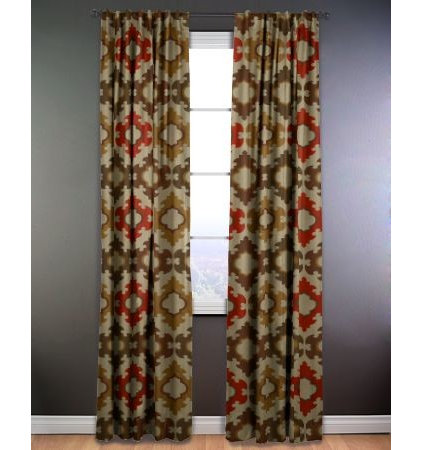Eclectic Curtains by smithandnoble.com