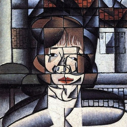 """Art MegaMart - Juan Gris Portrait of Germaine Raynal - 18"""" x 27"""" Premium Canvas Print - 18"""" x 27"""" Juan Gris Portrait of Germaine Raynal premium canvas print reproduced to meet museum quality standards. Our museum quality canvas prints are produced using high-precision print technology for a more accurate reproduction printed on high quality canvas with fade-resistant, archival inks. Our progressive business model allows us to offer works of art to you at the best wholesale pricing, significantly less than art gallery prices, affordable to all. We present a comprehensive collection of exceptional canvas art reproductions by Juan Gris."""