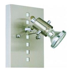 Eglo - Fizz 1 Light Ceiling/Wall Light - Fizz 1 Light Ceiling/Wall Light in Matte Nickel and Chrome Finish