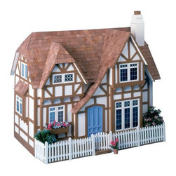 Greenleaf - Greenleaf Glencroft Dollhouse Kit - 1 Inch Scale - 8001 - Shop for Dollhouses and Dollhouse Furnishings from Hayneedle.com! Timeless charm and vintage beauty define the Greenleaf Glencroft Dollhouse Kit - 1 Inch Scale. With its picket fence and half-timbered exterior the house is a visual delight; it has silk-screened windows to simulate leaded glass a delicate flower box and even a slender welcoming chimney stack. However the most delightful surprises are waiting on the inside. Four spacious rooms support a cozy beamed ceiling paying tribute to the Tudor style of architecture while built-in bookcases two window seats two fireplaces and a winding staircase complete the pleasant ensemble. This dollhouse comes unassembled; approximate assembly time is 13 hours. It also comes unfinished and ready to paint. Paint not included. About GreenleafEstablished in 1947 Greenleaf Steel Rule Die Corp is a leading manufacturer of all-wood dollhouse kits furnishings and accessories. Located in Schenevus N.Y. Greenleaf is acknowledged by many in the miniatures industry for its outstanding design and superior quality. Greenleaf wooden dollhouse kits are an ideal project for collectors or families who want to create lasting keepsakes.