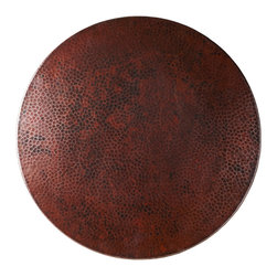"""Native Trails - 30"""" Copper Lazy Susan - As versatile as it is beautiful, you can use it as a centerpiece or a serving piece. Add a warm, rustic ambience to your dining table, coffee table or bar. You and your guests will enjoy sharing your culinary creations on this smoothly swiveling, hand-hammered copper Lazy Susan."""