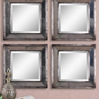 Davion Squares Silver - Frames Feature A Distressed, Antiqued Silver