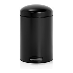 Brabantia Retro Pedal Bin With Motion Control, Matte Black