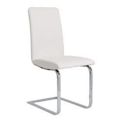 Eurostyle - Eurostyle Cinzia Side Chair in White & Chrome [Set of 2] - Side Chair in White & Chrome belongs to Cinzia Collection by Eurostyle A project table, a dining area, anywhere you need a very comfortable side chair think Cinzia. The classic modern colors and cushioned seat make co-workers or dinner guests feel right at home. Side Chair (2)