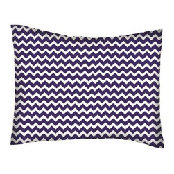 SheetWorld - SheetWorld Twin Pillow Case - Percale Pillow Case - Purple Chevron Zigzag - Pillow case is made of a durable all cotton percale material. Fits a standard twin size pillow. Features a Purple Chevron Zigzag print.