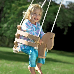 Wooden Horse Swing - I wish we'd had this adorable wooden swing when my daughter was younger. It looks like it belongs in a natural setting, unlike those ubiquitous plastic toddler swings you see everywhere.