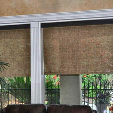 mediterranean roller blinds by Distinctive Window Designs