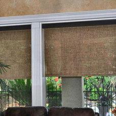 Mediterranean Roller Shades by Distinctive Window Designs