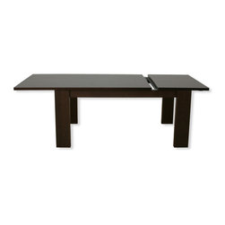 Temahome - Horizon 140 Cm Extending Dining Table - The Horizon dining table is a sure bet when creating an elegant atmosphere for any dining space. The smooth, expandable surface of the table offers a versatile solution providing seating from 4 to 10 people. The chocolate finish works well in either large or small rooms, enhancing larger areas or creating a cozy environment in smaller ones.