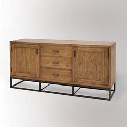 Copenhagen Buffet - This piece's light wood tone and clean lines scream Scandinavian style.