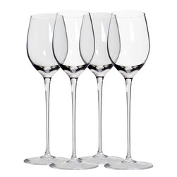 Martinka Crystalware & Lifestyle - Classic Long Stem Wine Glasses, White Wine, Set of 4 - Elegant yet simple these extra tall white wine glasses are a must-have for wine lovers. Handmade from ultra light weight crystal, each piece has a beautiful long stem and 10 inch form. Wine glasses come in a set of 4 and hold up to 10 oz of your favorite white wine.