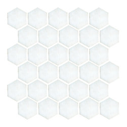 """Landsdale Carrara Mosaic 2"""" Hex Tile - I'm not sure that there is a tile pattern which says 'classic' to me more than hex - I have it in my own bathroom and never get sick of it. Carrara has the gorgeous veining that will bring an elegant feel to a bathroom."""