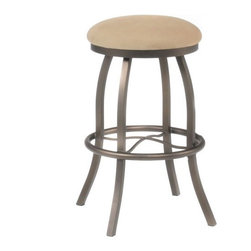 """Tempo - Yardley 34"""" Backless Extra Tall Bar Stool - Tempo was founded in 1970 and is recognized today as the fashion leader for casual dining, pub tables and barstools. The companys product line features contemporary, transitional and traditional styling. Tempo is recognized for its commitment to quality, comfort, and a broad assortment of custom choices that feature high performance fabrics, durable non-toxic powder coat finishes, glass and wood tops in a variety of sizes and chairs. Thank you for selecting Tempo to become part of your home décor. Yardley 34"""" Backless Extra Tall Bar Stool Features:  -Customize the Yardley bar stool to suit your needs. -Over 50 fabric options and 18 finishes to choose from. -Constructed for commercial or residential use. -16 Gauge steel. -Some assembly required. -Seat height: 34"""". All Tempo Metal stools utilize a commercial grade 16 guage stainless steel. These are the most durable stools in the industry. TEMPO INDUSTRIES, INC. warrants its iron metal product construction to be free from defects in workmanship and materials for the life of the product. Fabric coverings and moving parts are not covered by this warranty."""