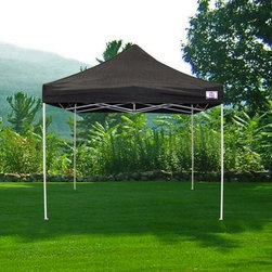 Impact Canopy Traditional Instant Canopy Kit - The Impact Canopy Traditional Instant Canopy Kit makes a great shelter for tail-gate parties, small business events, or as shade for your concession stand. The possibilities are endless with this 10 x 10-foot canopy! This kit comes with a 4-leg powder-coated steel frame, canopy top in your choice of 5 unique colors, and a universal rope and spike kit so set-up is quick and easy. The Impact Canopy Traditional Instant Canopy measures 120L x 120W x 132H inches and features a push-button height adjustment system.About Impact CanopyImpact Canopy (formally called Caravan Canopies Canada Inc.) is one of the only manufacturers who can offer the complete canopy program and with a tag line that promises The Next Level you know to expect the best! Formed in 1999, Impact Canopy has over 10 years of experience in the industry as a manufacturer and distributer of canopies and canopy accessories. Not only that, but they are the only true North American Instant Canopy brand with offices in the US and Canada providing the entire globe with the best in instant canopy options. Experience next level innovation, customer service, technology, product support, and design with Impact Canopy.