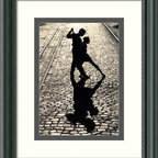 "Amanti Art - ""The Last Dance"" Framed Print - Remember darlin', save the last dance for someone who really deserves to live forever in your memory. Captured in the last pose of the tango, the dancers on this print are forever entwined in a passionate embrace on a romantic, faraway cobblestone street. Surrounded by a custom frame with a white and grey mat, these dancers come ready to hang and full of emotion."