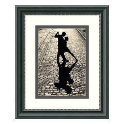 Amanti Art - 'The Last Dance' Framed Print - Remember darlin', save the last dance for someone who really deserves to live forever in your memory. Captured in the last pose of the tango, the dancers on this print are forever entwined in a passionate embrace on a romantic, faraway cobblestone street. Surrounded by a custom frame with a white and grey mat, these dancers come ready to hang and full of emotion.