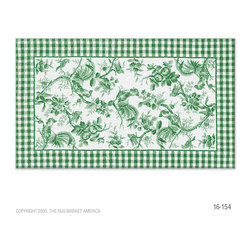 The Rug Market - Rooster Toile Green area rug -