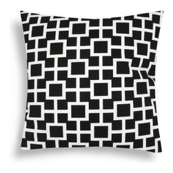 Domusworks Lattice Black Decorative Pillow - The white geometric pattern on the black background of the Lattice Black Decorative Pillow makes a stunning addition to any room. Its removable insert has a hypoallergenic poly fill for comfort, and is easily accessible with a zippered closure.About Domusworks:Delivering handmade, eco-friendly products proudly crafted in the USA, Domusworks is sure to have something for every home. Using designer fabric made from organic cotton, Domusworks uses a team of freelancers and partners around the New York City area to make each piece by hand. This ensures that you'll receive only the best-quality product, with the peace of mind tha comes from knowing your decor wasn't mass-produced overseas.