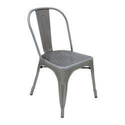 "Nuevo Living - Ferrer Dining Chair by Nuevo - Indoor or Outdoor - HGMS104 - The Ferrer dining chair featured a galvanized steel finish which makes it suitable for indoor or outdoor use.  The seat height is 17.5"" and seat depth is 16""."