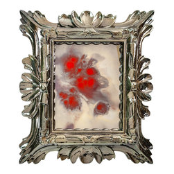 "Art Dallas, Incorporated - Art Dallas Antique Mirror - Red Marble - An Art Dallas handcrafted ""Red Marble"" Antique Mirror framed with our Flash® molding."