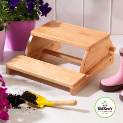 Kid Kraft - Kid Kraft Natural Flip Stool From Vistastors - This is Natural flip stool from kidkraft available on Vistastores. Sometimes your little kids needs little boost and high energy. This flip stool is perfectly fine with them. This classic flip stool helps children to play independently which also work as a Versatile stool. It is very clean and easily carrying by any person. It is also available in white and natural colors.