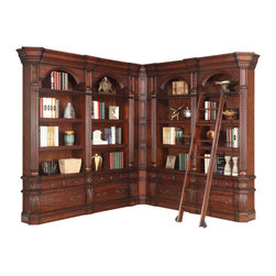 Parker House - Parker House Versailles Museum Library in Dark Almond - Since 1946, Parker House has taken great pride to produce quality furniture while still keeping customer satisfaction a number one priority. As a family owned and operated company, Parker House has been able to stay true to their commitment by manufacturing solid wood furniture in a variety of rich finishes, accented with fine, exquisite details. Choose between a selection of unique collections of furniture ranging from entertainment centers, home office furniture, library walls, and media centers. Parker House exemplifies quality workmanship and materials with stunning beauty, ensuring that these furniture pieces will becomes fixtures in your household for generations to come.
