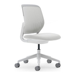 Steelcase - Steelcase Cobi Chair, White Frame & Standard Casters, Coconut - Nimble is as nimble does. This chair encourages agile responses to whatever comes your way at work. It's sleek and simple, so it can roll into meetings easily. Comfy enough to let you settle into the task in front of you. And supportive enough to allow you to change your position frequently without looking awkward.