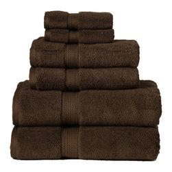 Luxurious Egyptian Cotton 900 Gram 6-Piece Chocolate Towel Set - Luxurious 900GSM 6-Piece Chocolate Towel Set