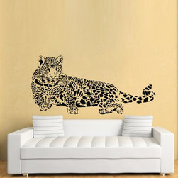 ColorfulHall Co., LTD - Wall Decals for Nursery Leopard Jungle Animal - Wall Decals for Nursery Leopard Jungle Animal