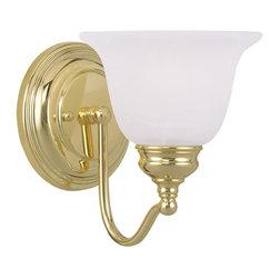 Joshua Marshal - Polished Brass Bathroom Sconce - Polished Brass Bathroom Sconce