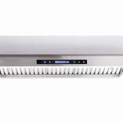 Cavaliere - Cavaliere Euro AP238-PS61 Under Range Hood - Cavaliere Stainless Steel 260W Under Cabinet Range Hood with 4 Speeds, Timer Function, LCD Keypad, Stainless Steel Baffle Filters, and Halogen Lights