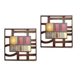Danya B - Set of Two Metal Contemporary Art Wall Plaques in Earth Tones - This gorgeous Set of Two Metal Contemporary Art Wall Plaques in Earth Tones has the finest details and highest quality you will find anywhere! Set of Two Metal Contemporary Art Wall Plaques in Earth Tones is truly remarkable.