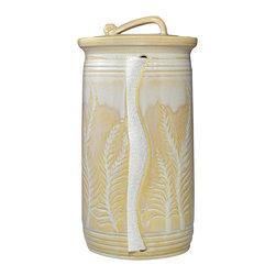 Sea Salt Caramel Paper Towel Holder - Carved Leaves -