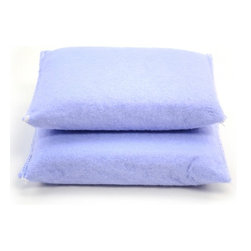 Reusable Kitchen Sponge 2pc - Tough enough to scour and scrub, yet gentle enough to wipe delicate surfaces. Outlasts ordinary sponges. Machine washable for multiple uses.