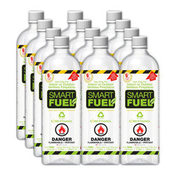 Anywhere Fireplace - Anywhere Smart Fuel Liquid Bio-Ethanol Fuel, Liter Bottles, 12 Pack - The fuels offered are created specifically for bio-ethanol ventless fireplaces. It is a fuel specially formulated to provide the cleanest and safest fire possible.