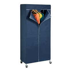 Garment Rack Cover - Honey-Can-Do GAR-02198 Urban Garment Rack Cover, Blue. Convert your garment rack into a wardrobe with this zippered garment rack cover from Honey-Can-Do. The non-woven fabric is breathable yet protects clothing from dust and sunlight and the triple zippered opening ensures the cover will stay tightly in place. Designed to fit the GAR-01120 garment rack from Honey-Can-Do.