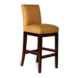WILLEM SMITH - Alvaro Bar Stool - Combining a sustainably harvested maple frame with a WILLEM SMITH proprietary seat cushion to provide subtle lumbar and thigh support, the Alvaro Bar stool is exceptionally solid yet extremely sit-worthy. Sit it to believe it!