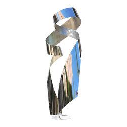 Jon Koehler Sculpture - Revolution - Kinetic Stainless Steel Sculpture - 39 x 19 x 19 inches