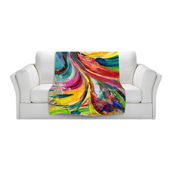 DiaNoche Designs - Throw Blanket Fleece - Synesthesia - Original Artwork printed to an ultra soft fleece Blanket for a unique look and feel of your living room couch or bedroom space.  DiaNoche Designs uses images from artists all over the world to create Illuminated art, Canvas Art, Sheets, Pillows, Duvets, Blankets and many other items that you can print to.  Every purchase supports an artist!