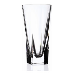 """Lorren Home Trends - RCR 9.75"""" Fusion Crystal Vase - RCR Fusion Collection Crystal Vase Small.  This modern looking vase is made in the tuscany region of Italy.  This sleek looking crystal vase with its clean finished edges will add stlye and beauty to any home.  Measures 5"""" x 9.75"""" tall."""
