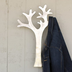 Branch Out Wall Hook - Hang this cast aluminum hook by your back door for a lightweight and easygoing place to hang up your outdoor gear. The playful tree shape will put a smile on your face as you run off to your next adventure.