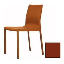 Mobital - Mobital Fleur Caramel Dining Side Chair (Set of 2) - High fashion modern design and high quality are at the root of Mobital's companies. Founded in 1992 with production in Europe the company initially manufactured limited home furnishings. With a strong Euro dollar and Asia�s ability in manufacturing meeting global standards Mobital moved its production from Europe to Asia in the late 1990�s. Never compromising quality Mobital made sure to use the highest standard of raw materials available to them to ensure market success. It was at this time Mobital began aligning with partners from around the world from suppliers to retail outlets to showcase the Mobital lineup. This was the right step in the right direction for Mobital. Mobital was able to focus on attaining their core mission and begin fulfilling the Mobital vision. Mobital�s vision is to provide high fashion impeccable quality and affordable modern furniture designs for people everywhere. In the beginning of 2000 Mobital began increasing it�s product lines and penetrating the Canadian market on a full scale basis. After an overwhelming response in the Canadian market; there was no choice except another expansion into the neighboring country of USA. It was in 2005 that Mobital USA was launched. This expansion allowed for Mobital to be a global supplier. From Alaska to Mexico and as far as Egypt and Scandinavia Mobital had become a global player. In July 2007 Mobital officially launched its permanent showroom in Las Vegas Nevada. Mobital has a dynamic approach to design that is carried out by the partners of Mobital. Mobital is a privately owned furniture company based in Montreal and Vancouver. The partners of Mobital bring over 50 years of combined experience from the industry. Specifications Finish: Black Finish: Caramel Finish: Gray Finish: White Finish: Grey with Black piping.