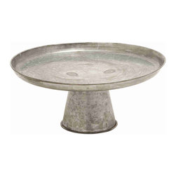None - Large Antique Galvanized Cupcake Stand - Featuring a simple design, this stylish cupcake stand is a perfect combination of minimalist style and functionality.