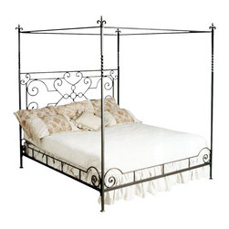 Corsican - Custom Haven Canopy Bed, Queen - Corsican has been in business over 40 years. Their entire focus is making wrought iron furniture. Many of their skilled craftsman are second generation.
