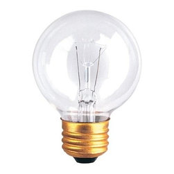 Bulbrite - Globe Light Bulbs - 25 Bulbs (25w) - Choose Wattage: 25wOne pack of 25 Bulbs. G19 incandescent type bulb. Standard E26 medium base bulb. Dimmable. EISA compliant. Voltage: 125 V. Average hours: 3000. Color rendering index: 100. Beam spread: 360 degree. Color temperature: 2700K. Ideal for use in vanity, chandeliers, pendants and down lights. Clear color. 25 watt lumens: 175. 40 watt lumens: 340. 60 watt lumens: 550. 2.38 in. Dia. x 3.5 in. H